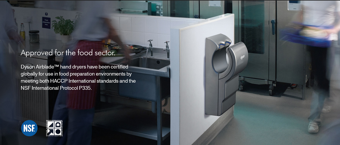 Dyson Airblades Approved for Food Sector