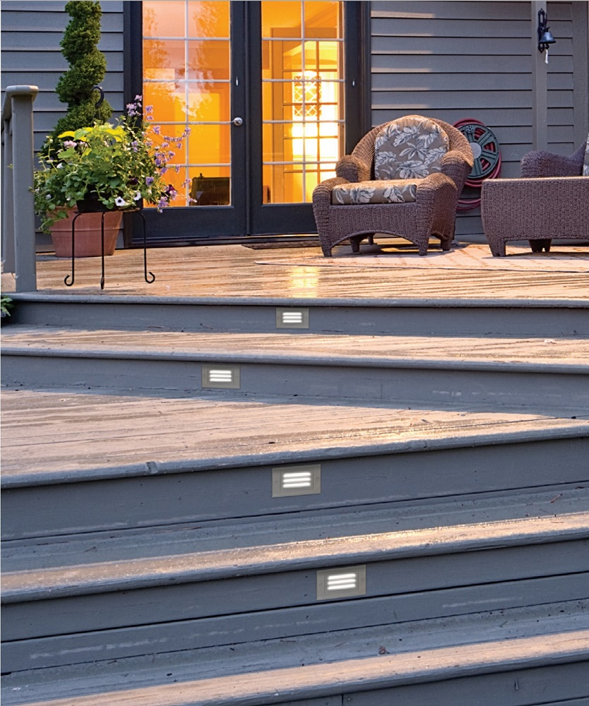 NICOR STP-10-120-WH LED Step Light Outdoors